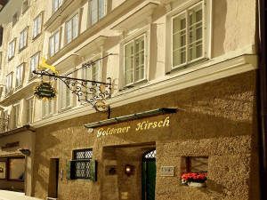 Exterior view of Hotel Goldener Hirsch.