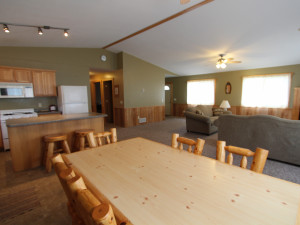Cabin interior at Cyrus Resort.
