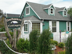 Exterior view of Enchanted Cottages.