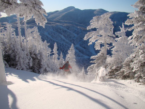 Skiing at Smugglers' Notch Resort.