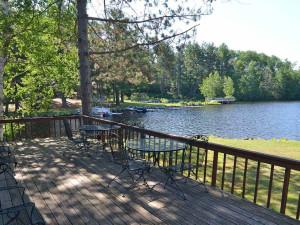 Deck view at Treeland Resorts.