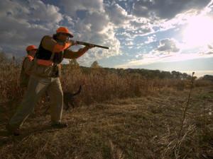 Hunting at Deer Creek Lodge.