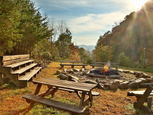 Fire pit at Smoky Mountain Resort Lodging and Conference Center.