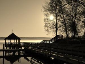 The dock at Mill Falls at the Lake.
