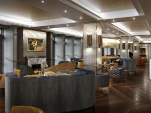 Lounge view at Fairmont Le Chateau Frontenac.