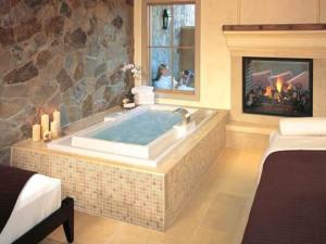 Bathroom interior at Vintage Inn.