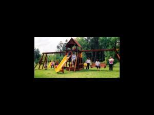 Playground at Little Pine Resort.