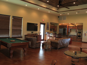 Guest living room at Flying L Guest Ranch.