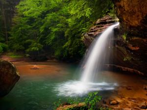 Waterfall at Hocking Hills Luxury Lodging.
