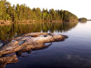 Lake view at Lodge of Whispering Pines.