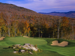 Golf course near Stowe Mountain Lodge.