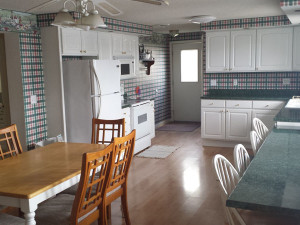 Guest kitchen at Cedar Valley Lodge.