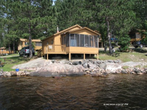 Cabin Exterior at White Iron Beach Resort