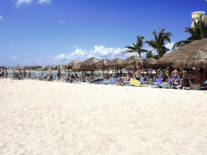The beach at Real Luxury Playa Del Carmen.