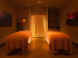 Spa massage tables at Gainey Suites Hotel.