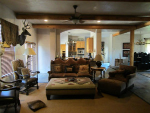 Guest living area at Lajitas Golf Resort & Spa.