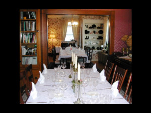 Dining room at Lorelei's Bed & Breakfast.