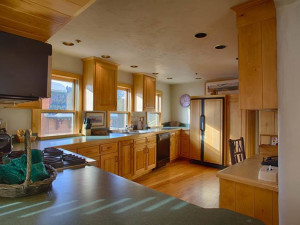 Vacation rental kitchen at Grand Targhee Resort.
