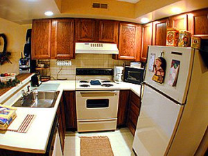 Kitchen View at Baskins Creek Cabin Rentals