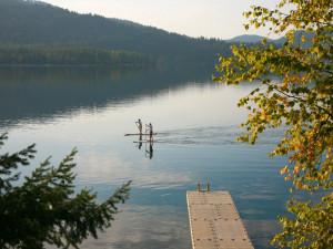 Kayaking at Bay Point on the Lake.