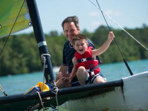 Sailing at Sugar Lake Lodge.