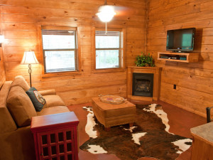 Cabin living room at Remember When Cabins.