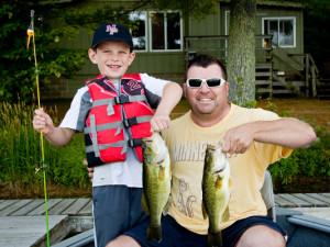 Fishing at Broadwater Lodge.