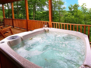 Hot tub at Little Valley Mountain Resort.