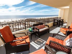 Balcony view at Brooks and Shorey Resorts, Inc.
