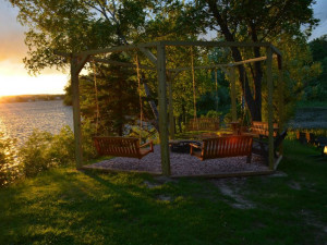 Relaxing at Curriers Lakeview Lodge.