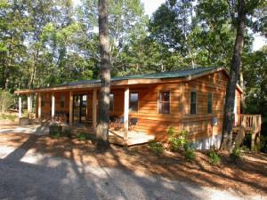 Cabin exterior at Dahlonega Spa Resort.