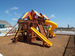 Kid's playground at Port Aransas Escapes.