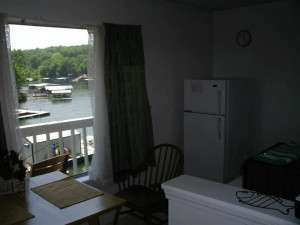 Lake view at Sunset Beach Resort.