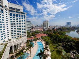 Exterior view of Hanoi Daewoo Hotel.