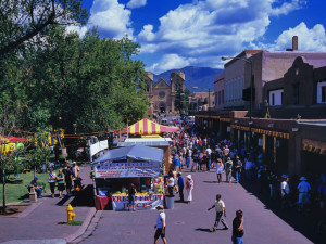Festival at Historic Santa Fe Plaza near The Lodge at Santa Fe.