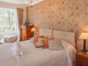 Guest room at Harrabeer Country House Hotel.