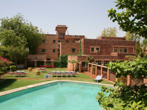 Outdoor pool at Karni Bhawan.