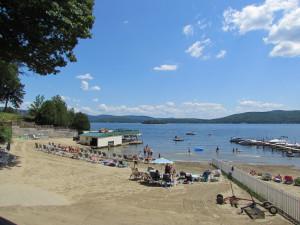 The beach at The Depe Dene Resort.