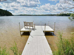 Dock view at North Country Vacation Rentals.