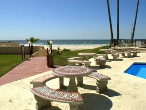 Oceana Del Mar Patio at  Rosarito Inn Condominiums