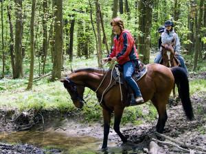 Horseback riding at Bear Paw Adventure.