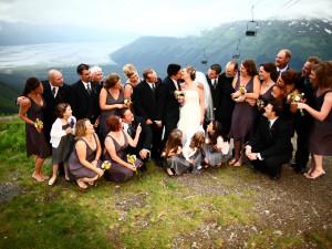 Wedding group at Alyeska Resort.
