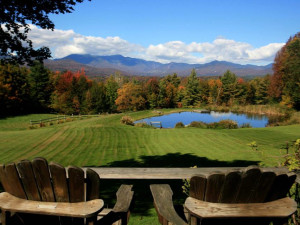 Porch view at Stowe Country Homes.