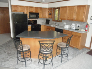 Vacation rental kitchen at Killington Accommodations.