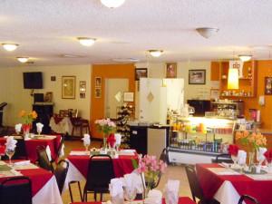 Dining at Knights Inn Hallandale Beach.