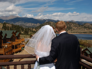 Wedding at Marys Lake Lodge.