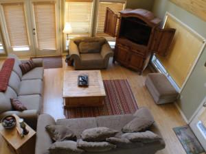 Rental living room at Sunetha Property Management.