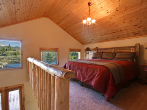 Guest room at The Lodge at Two Rivers.