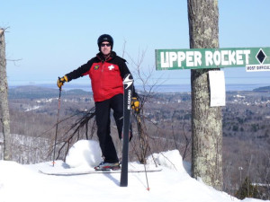 Skiing at Marquette Mountain Ski Area.