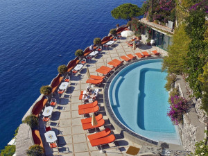 Outdoor pool at Hotel Il San Pietro di Positano.